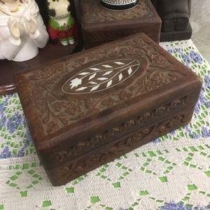 VTG Wooden Keepsake Tarot Card Box